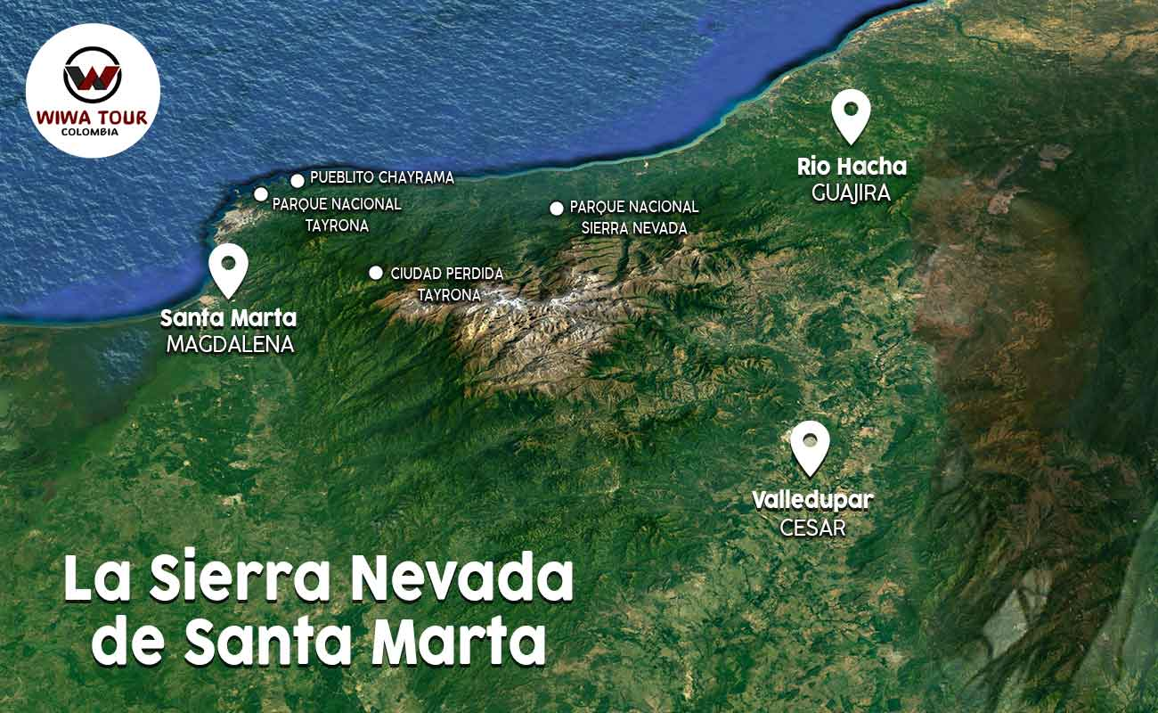 map of the sierra nevada de santa marta