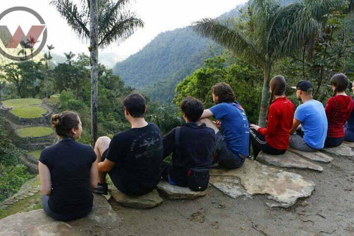 tourists in lost city santa marta