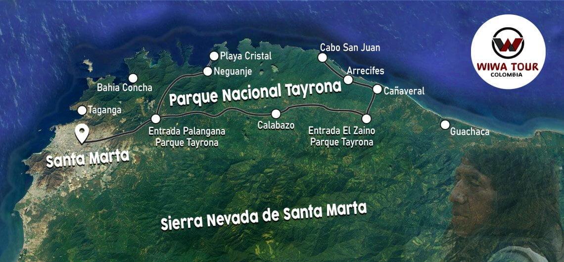 tayrona park map
